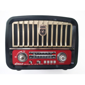 Caixa Som Retro Bluetooth Radio Am Fm Usb Sd Recarregavel