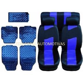 Parati G4 Jogo Capa Para Banco Carro + Kit Tapete Azul