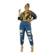 Lançamento Calça Jeans Mom Plus Size 46 Ao 54 Super Estilosa