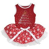 Rojo De Algodón Vestido De Perro De Navidad Mascota De La F