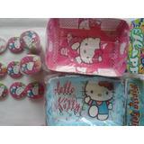 Hello Kitty Porta Torta Manteleria Chapa Bolsa Combo Fiesta