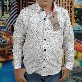 Camisas Manga Larga Estampada Para Niños Fg