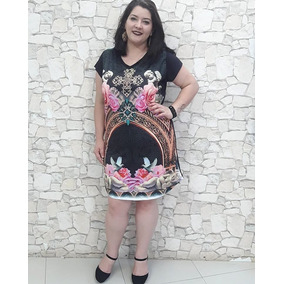 Roupa Feminina Vestido Estampado Plus Size Gordinha Oferta