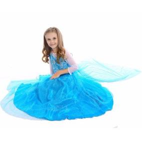 Disfraz Vestido Princesa Elsa Disney Frozen/ Niña