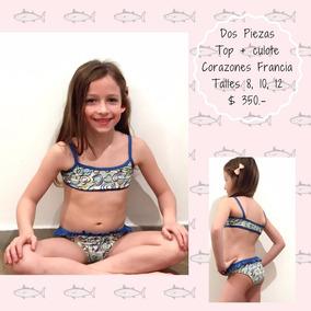 Malla Nenas Bikini Top + Culote Corazones N518