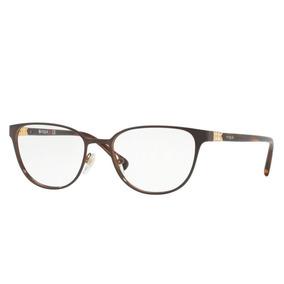 Óculos De Grau Vogue Metal Marrom Vo 4062b 997 Tam.52 8b3aa52979