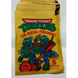 Figuritas Tortugas Ninja 100 Sobres Amarillos Cerrados