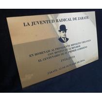 Placas Conmemorativas, Grabado Láser