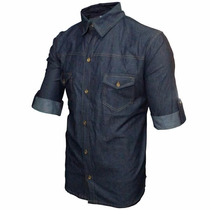 Camisa Sport Fino Manga Curta Jens Azul Escuro Chambrey