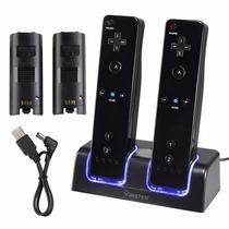 Carregador De Controle De Wii Black 2 Base - Original