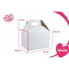 Caja Lonchera Boxlunch Carton Micro Blanco Dulces Mediana
