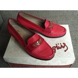 Zapatos Tanguis De Cuero Talla 37 Elegantes Con Caja