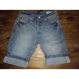 Bermuda Hombre Jeans Nw Denin Calidad Diesel/adidas Unicas!