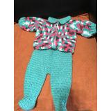 Conjunto Tejido En Crochet Bebe