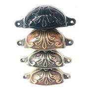 Cubeta Tirador  Vintage Para Mueble Cajon Flor