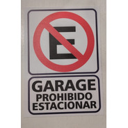 Cartel Prohibido Estacionar 29 X 21 Alto Impacto Plástico