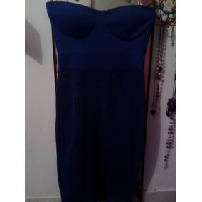 Vestido Semi Casual Azul Rey