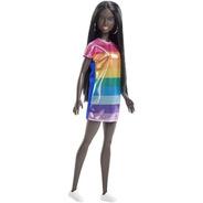 Boneca Barbie Fashionista 90 Negra Colorida Carnaval 2019