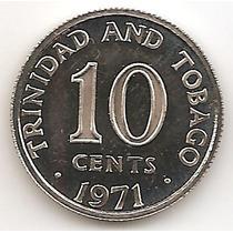 Trinidad Y Tobado, 10 Cents, 1971. Proof