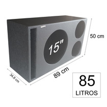 Pelego Box Caixa Trio 1 X 15 Eros + 2x Jarrão 85 Litros Mdf