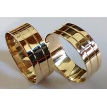Alianças Par 6 Milimetros De Largura 5 Gramas De Ouro Maciço
