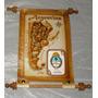 Souvenirs De Argentina Mapa Chico Cuero Total 18*26 Y Otros