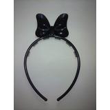 Vincha Negra Con Moño Tipo Minnie Mouse