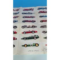 Antiguo Afiche Con Autos Grand Prix 1906- 1966