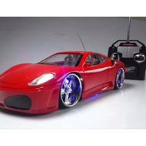 Carrinho Carro Controle Remoto Ferrari 4 Canais 7 Funções