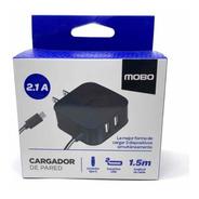 Cargador Mobo Tipo-c 2.1 Amp 2 Ptos+cable Samsung Huawei LG