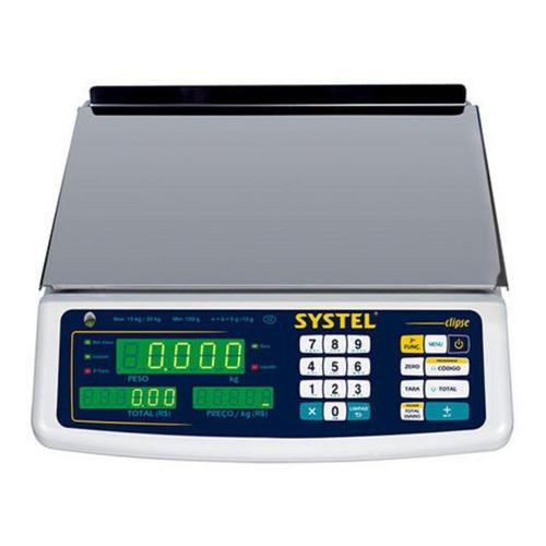 Balanza comercial digital Systel Clipse 5kg 100V/240V