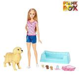 Barbie Família Filhotinhos Recém Nascidos Fbn17mattel