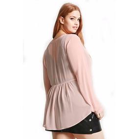 Blusa Camisa De Gasa Forever 21 Talle Especial 2x
