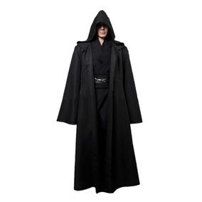 Fantasia Lord Sith Capa Preta Cosplay Capuz Anakin Skywalker
