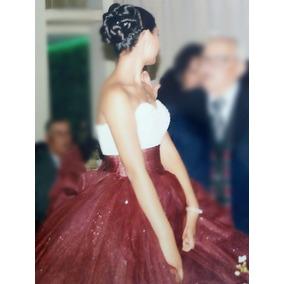 Vestido De Xv Años Color Vino Super Bonito