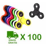 Pack 100 Fidget Spinner Finger Antiestres Metalico / Almayor