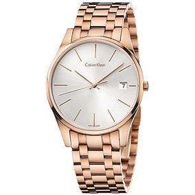 Ck Calvin Klein Rose Tiempo Dorado Del Reloj Para Hombre...
