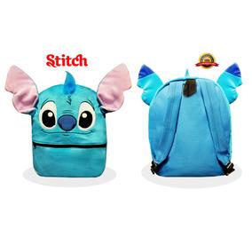 Mochila De Moda Stitch Disney De Peluche Envio Gratis !!!