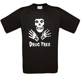 Remera Borde Recto Libre De Drogas Punk Xxx Sxe Har