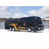 Miniatura Ônibus Scania Da Pf - Escala 1/50