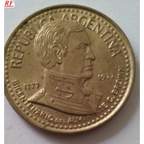 Argentina Moneda 10 Pesos Ley 18188 1977 Alte.brown