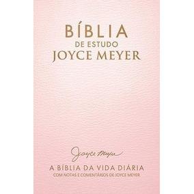 Bíblia De Estudo Joyce Meyer Letra Grande Rosa