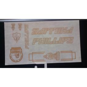 Calcomanias Phillips Letras Doradas Para Bici Antigua