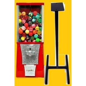 Maquina Chiclera $5 + Pedestal + 250 Pelota Botona Loca