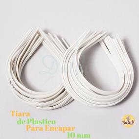 Tiaras Em Plastico 10mm Para Montagem Encapar Kit 48 Peças