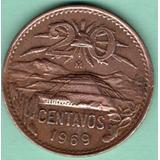 Moneda Cobre Veinte Centavos Piramide 1969