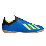 Tenis Futsal adidas X Tango 18.4 In - Azul/amarelo Neon