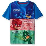 Pj Masks Camiseta Corta De Manga Corta Para Niños, Multi, 5