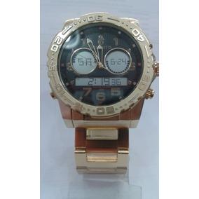 Relógio Atlantis Rip Curl Cortez A3228 Metal Dourado