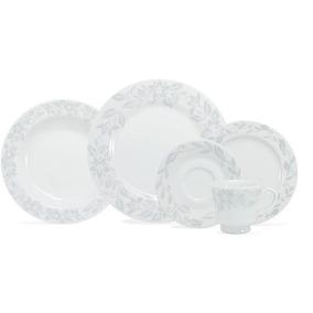 Aparelho De Jantar Tassia 30 Peças - Schmidt Branco/cinza